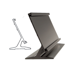 Picture of Aluminium Desk Name Bar - Black - Size: 20cm x 6.5cm