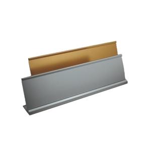 """Picture of Aluminium Desk Name Bar """"L"""" Shape - Size: 20cm x 5cm"""
