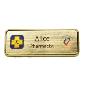 Picture of Name Badge Style 5A - Brushed Gold