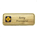 Picture of Name Badge Style 5B - Brushed Gold