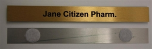 Picture of Name Bar For Counter Top Plaque - Velcro attached