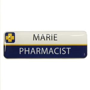 Picture of Non Framed - Name Badge Style 1B NF