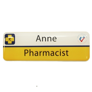Picture of Non Framed - Name Badge Style 3A NF
