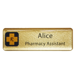 Picture of Non Framed - Name Badge Style 5B NF